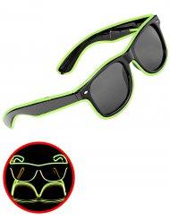 Leuchtende Brille neongrün