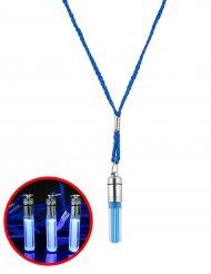 Kette mit leuchtendem Anhänger blau 5cm