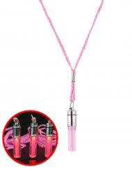 Kette mit leuchtendem Anhänger rosa 5cm