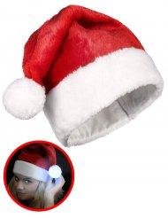 Weihnachtsmann - Mütze mit leuchtender Bommel