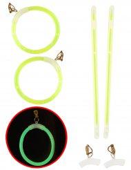 Leuchtende Neo Ohrringe in grün