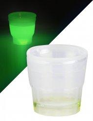 Grünes Shooter Leuchtglas 50 ml