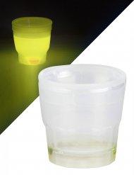 Gelb leuchtendes Shooter Glas 50 ml