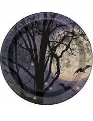 8 Pappteller Vollmond 23 cm Halloween
