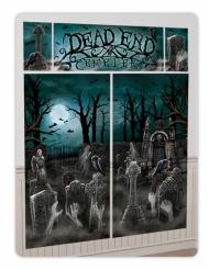 Schauriges Wanddekorationsset Friedhof für Halloween 5-teilig