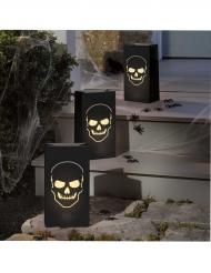 Lampions Schädelmotiv für Halloween 6 Stück