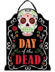 Dekoration Dia de los Muertos mit Pailletten 40 x 30 cm