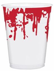 Plastikbecher mit Blutspritzern 25 Stück 200ml