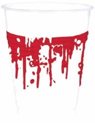 Plastikbecher mit Blutspritzern 10 Stück