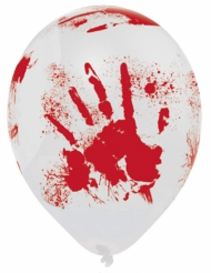 Latexballons mit Blutspritzern 6 Stück