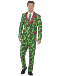Weihnachts-Anzug Motiv Stechpalme