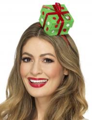 Geschenk-Haarreifen Weihnachten grün-rot