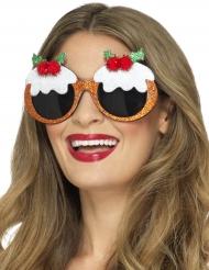 Spaßbrille Mistelzweig für Weihnachten
