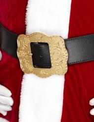 Weihnachtsmann Gürtel für Erwachsene gold-schwarz