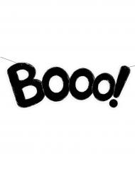 Booo! Schriftzug Halloween Dekoration schwarz 62 cm