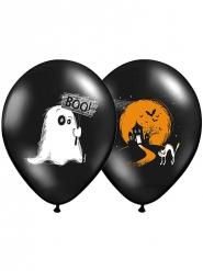 Balllons für Halloween schwarz 6 Stück