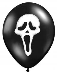 Latexballons Der Schrei für Halloween 6 Stück