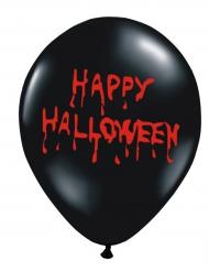 Blutige Luftballons schwarz 6 Stück