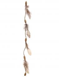 Girlande mit Federn Raumschmuck Indianer-Traumfänger braun 116cm