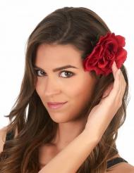 Blumenhaarspange Rose rot