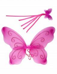 Haarteil Schmetterling violett