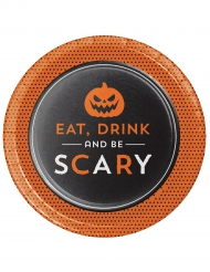 8 Halloween Teller Eat Drink and Be scary 18cm