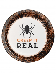 8 Pappteller für Halloween Creep it real