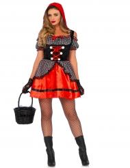 Kurzes Rotkäppchenkostüm für Erwachsene