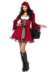 Langes Rotkäppchenkostüm für Erwachsene