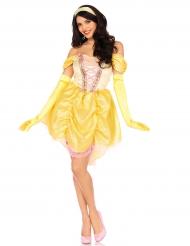 Magisches Prinzessinnen-Kostüm gelb für Erwachsene