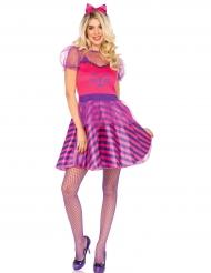 Grinsekatze Kostüm rosa für Damen