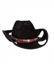 Becherhalter Hut schwarzer Cowboy