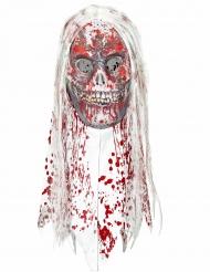 Zombie Maske blutig mit Haaren Erwachsene Halloween