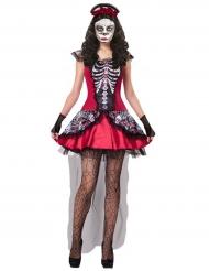 Skelett Kostüm bunt Dia de los Muertos für Damen