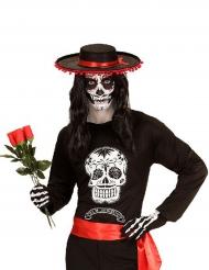 Día de los Muertos Longsleeve schwarz-weiß