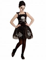 Skelett-Ballerina Kostüm für Mädchen