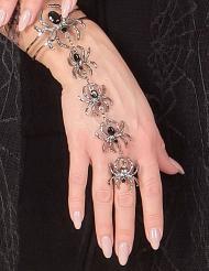Armband und Ring Spinne für Damen Halloween