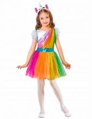 Einhorn-Kostüm für Mädchen Regenbogenfarben