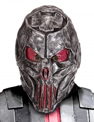 Außerirdische-Maske Alien für Erwachsene silber-rot