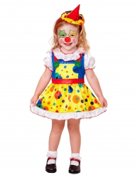 Mini-gelbes Clown-Kostüm Mädchen