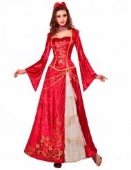 Kostüm Prinzessin Renaissance rot Damen