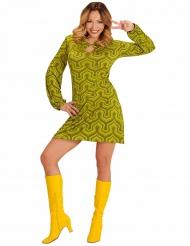 70er Jahre Retro Damenkostüm gelb