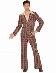 70er-Jahre Anzug Retro-Kostüm für Herren braun