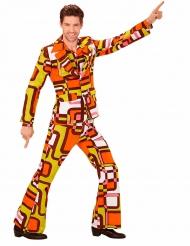 70er-Disco-Anzug orange-gelb