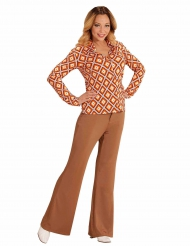 Disco 70er Jahre Shirt mit auffälligem Muster