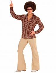 Verrücktes 70er Jahre Kostüm für Herren braun