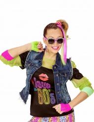 80er Jahre Kostümzubehör für Mädchen bunt