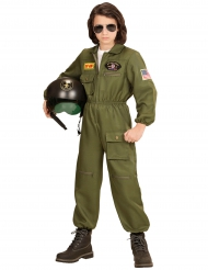 Flieger Kostüm für Jungen grün