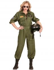Flieger Kostüm für Damen grün