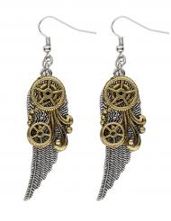 Steampunk Ohrringe Flügel für Erwachsene